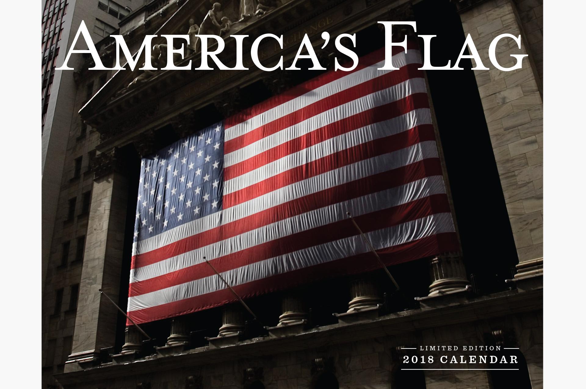 2018 American Flag Calendar